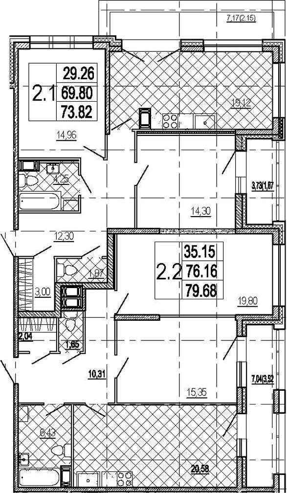5Е-комнатная, 153.5 м²– 2