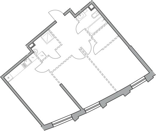 Свободная планировка, 68.47 м²– 2
