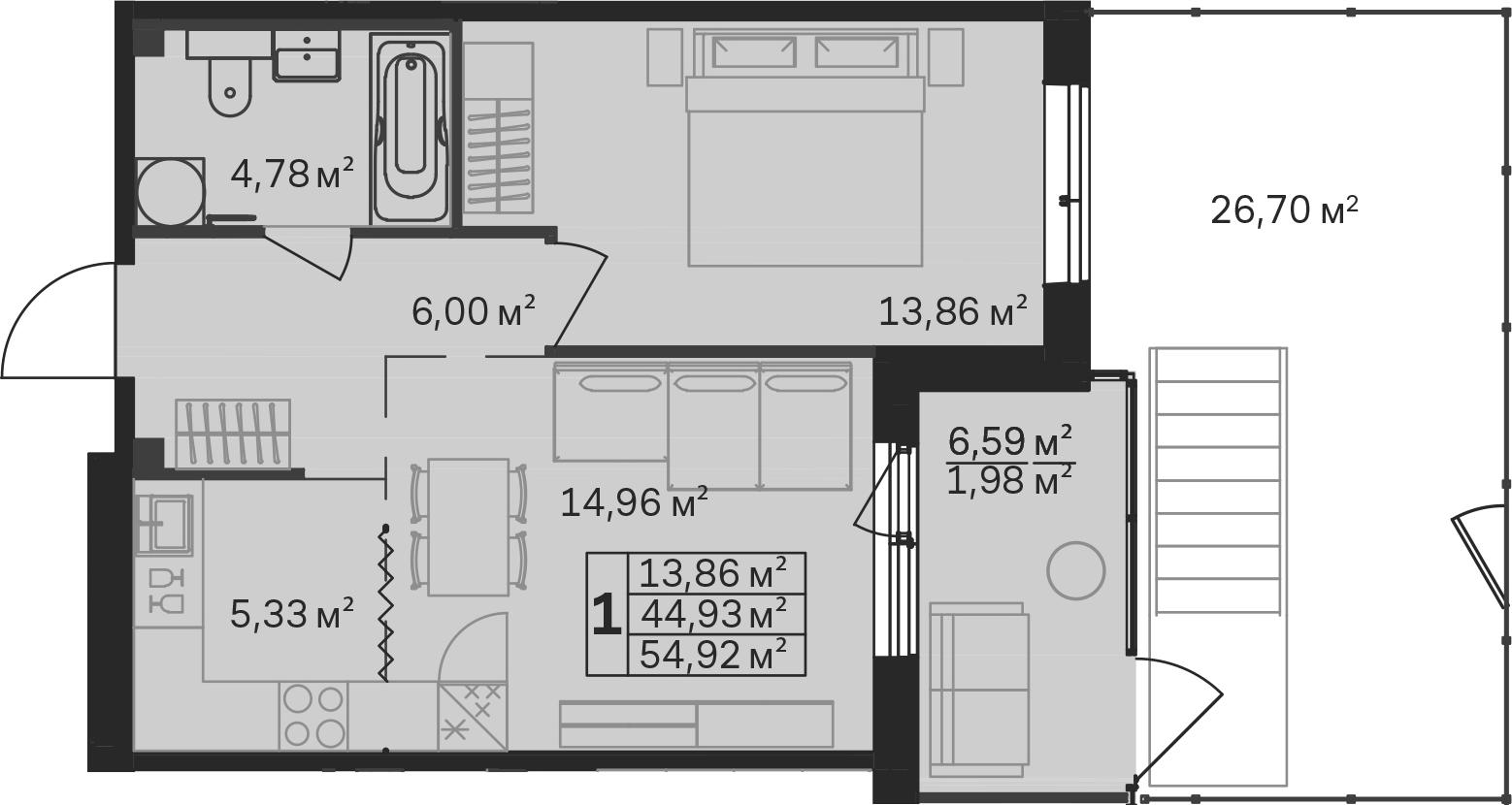 2-к.кв (евро), 78.23 м²