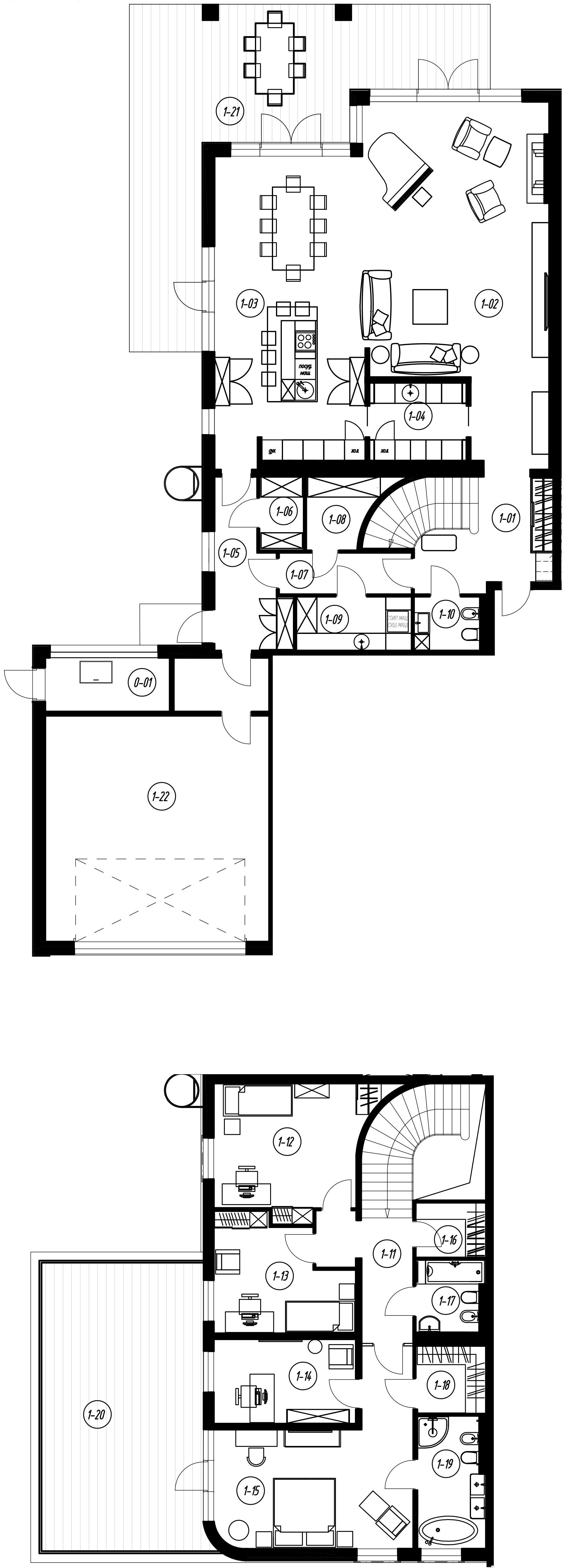 5-комнатная, 273 м²– 2