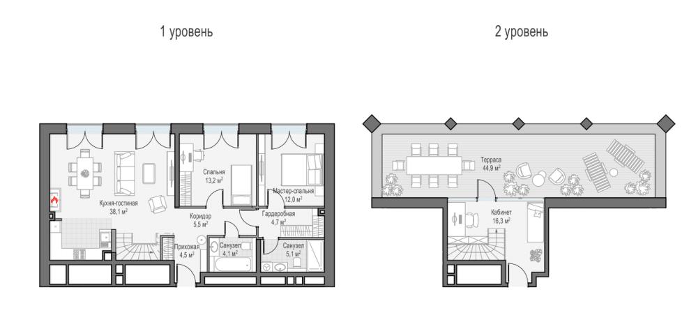 4Е-комнатная, 116.39 м²– 2