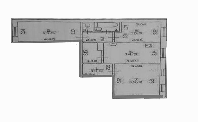 3-к.кв, 80.62 м²