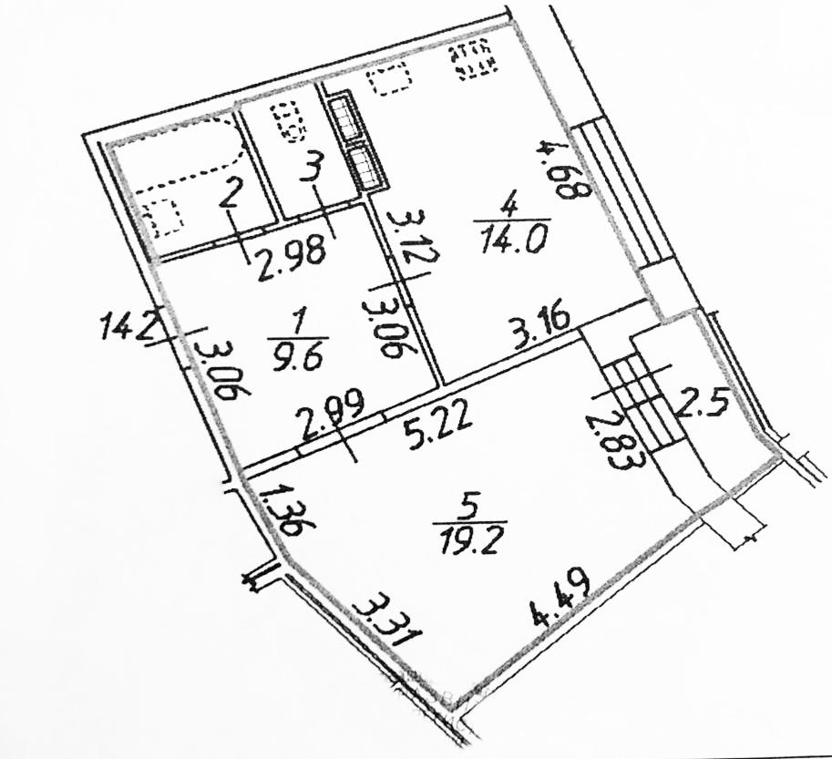 1-к.кв, 50.3 м²