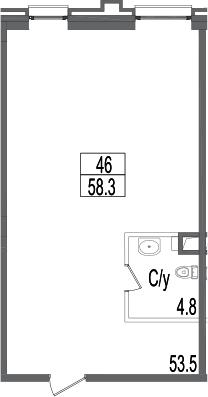 Своб. план., 58.3 м²