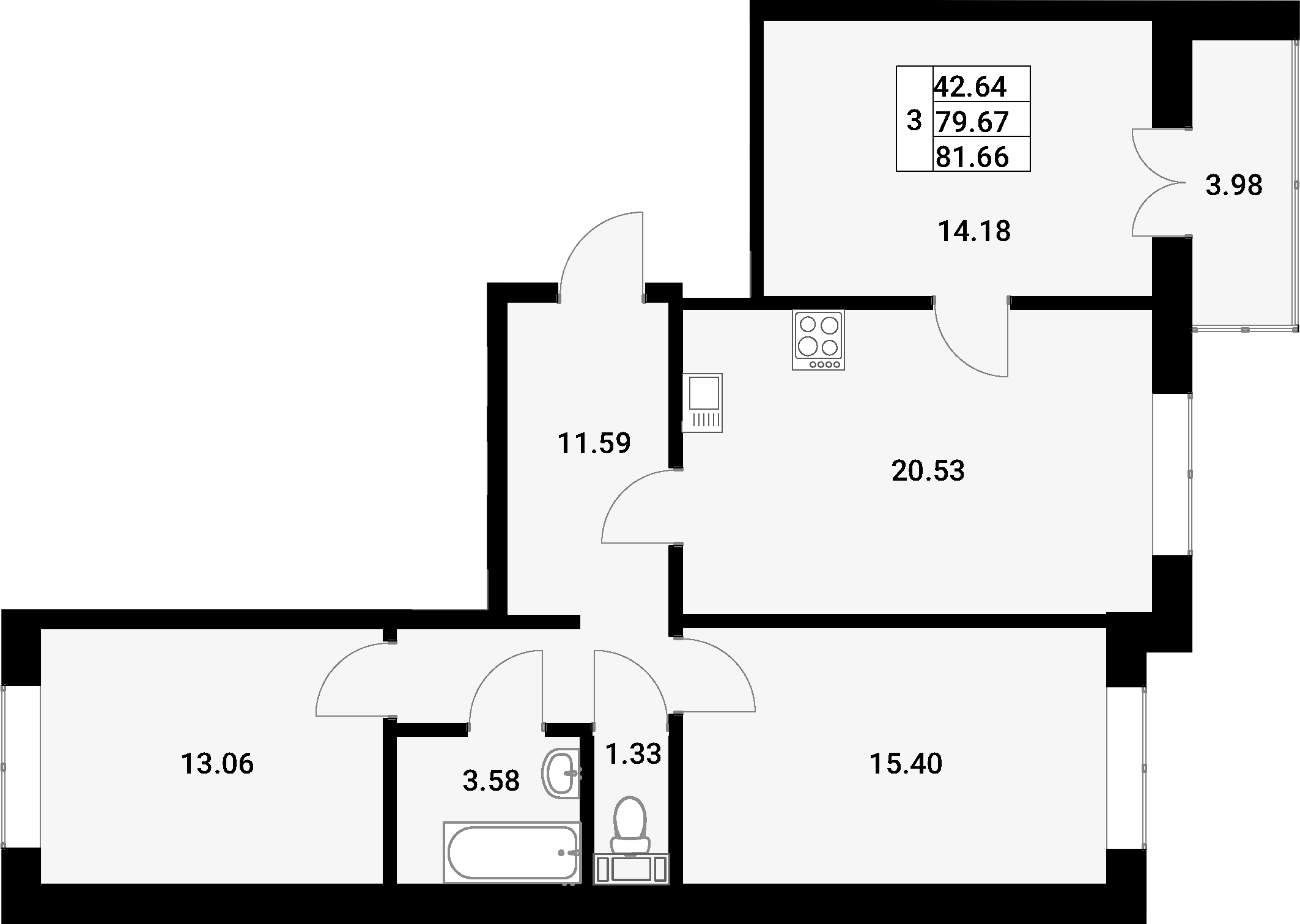 4-к.кв (евро), 83.65 м²