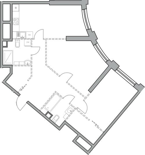 Свободная планировка, 84.36 м²– 2