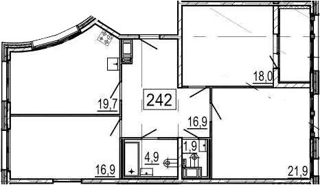4Е-к.кв, 102.9 м², от 6 этажа