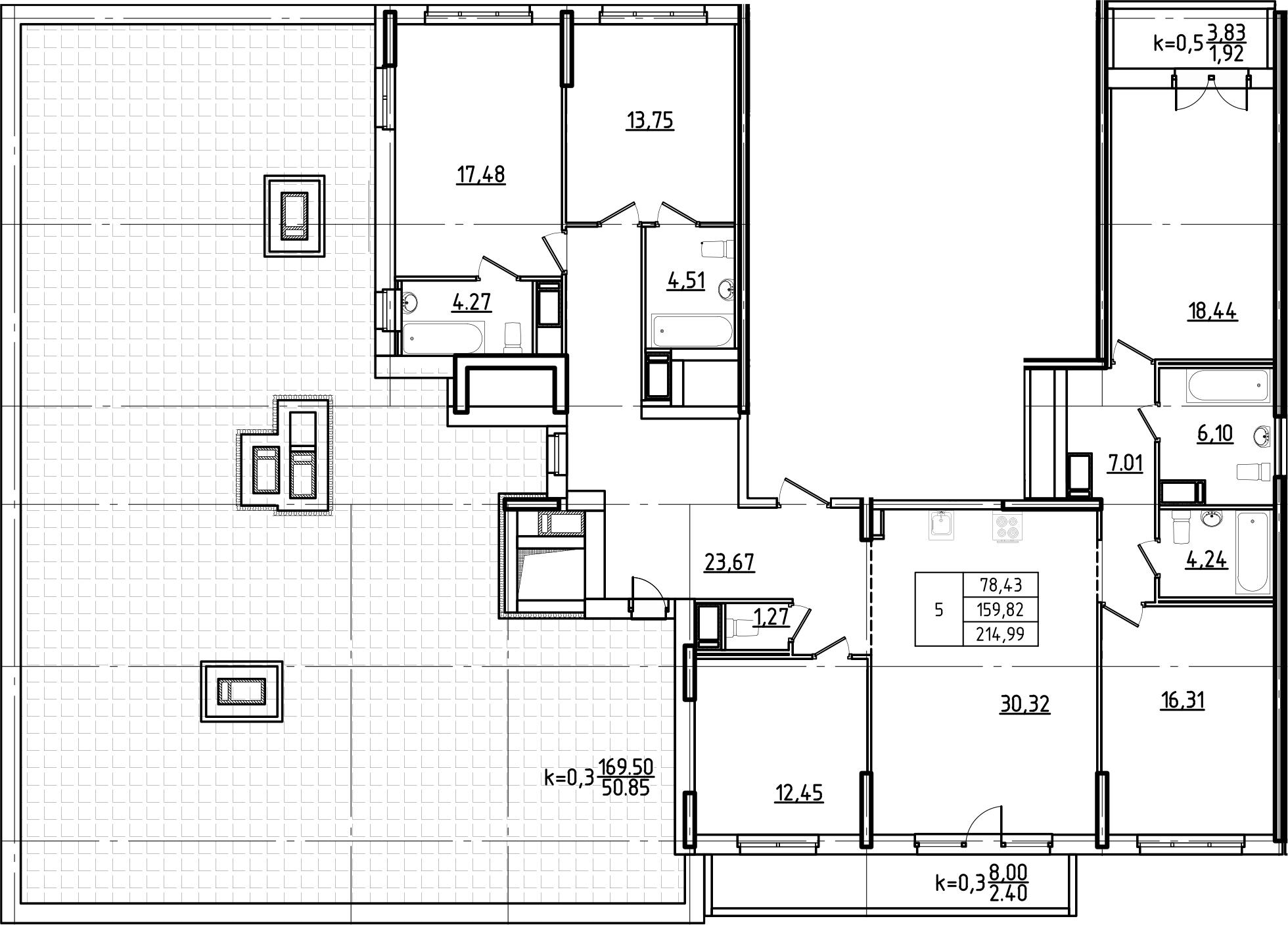 5-к.кв, 214.99 м²