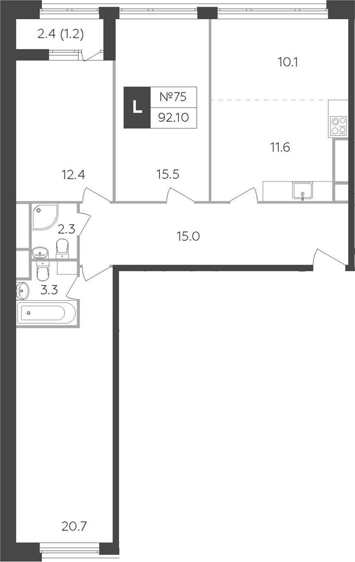 4Е-к.кв, 92.1 м²