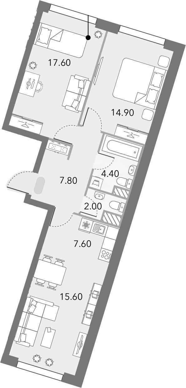 3Е-комнатная, 69.9 м²– 2