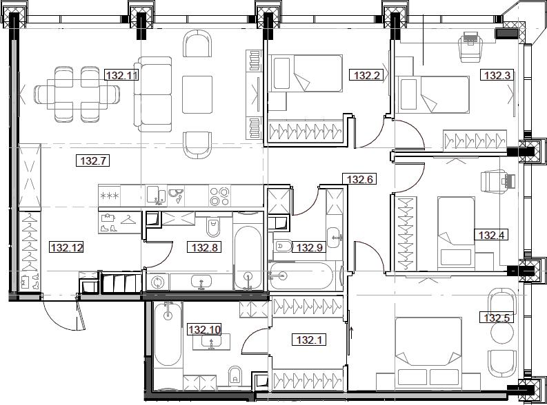 5Е-комнатная, 111.77 м²– 2