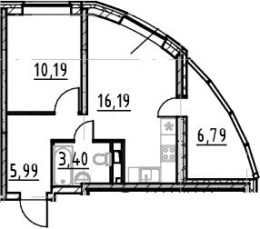 2Е-к.кв, 35.77 м²