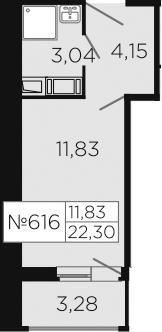 Студия, 23.94 м²