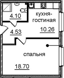 1-к.кв, 37.59 м², 14 этаж