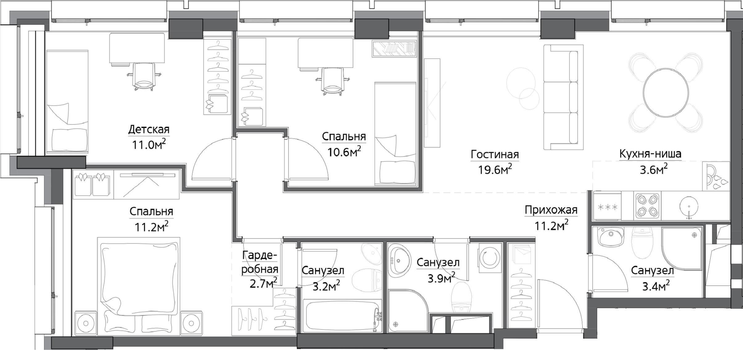 4Е-к.кв, 77.7 м²