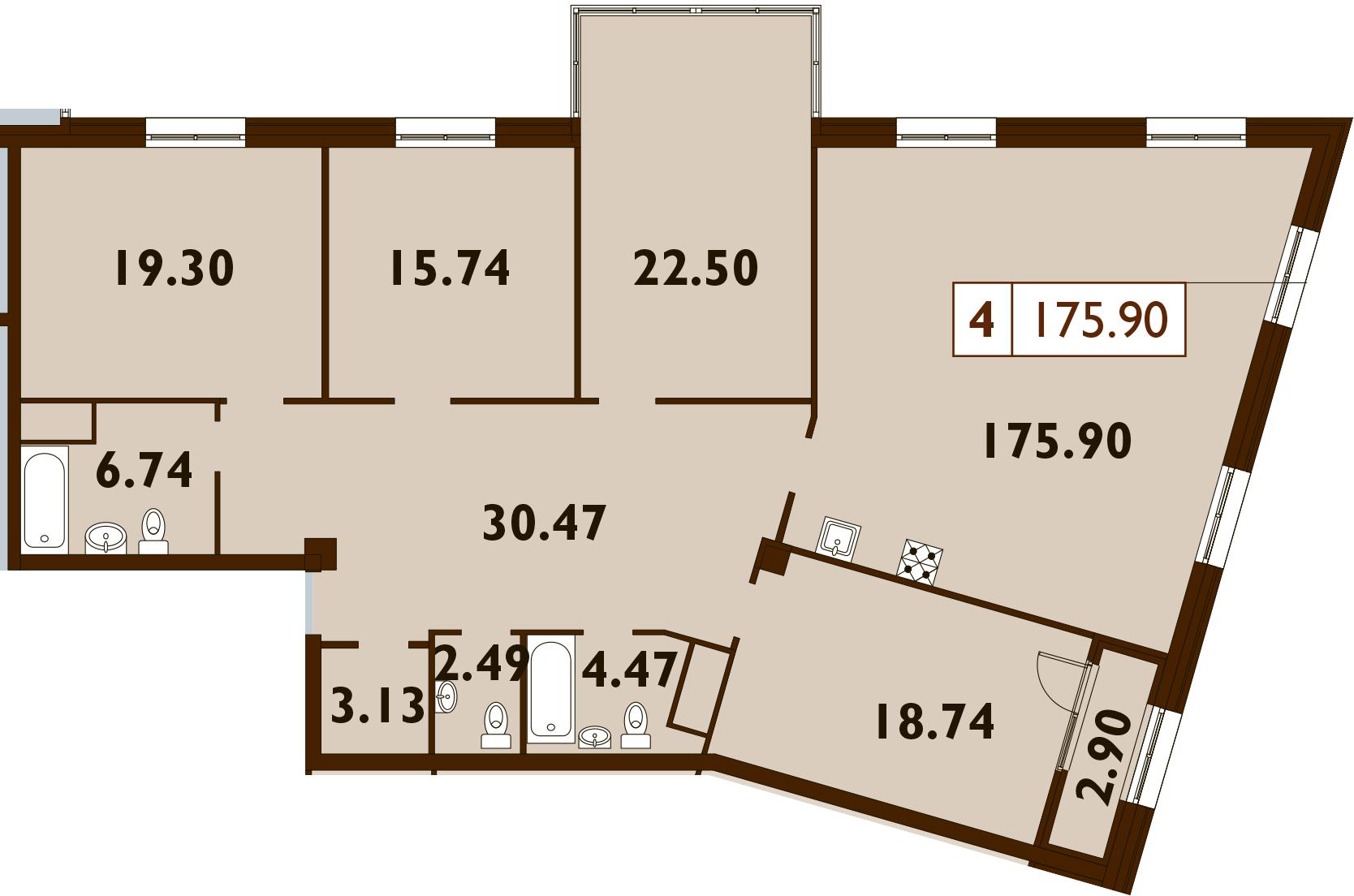 5Е-к.кв, 175.9 м²