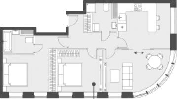 Свободная планировка, 67.6 м²– 2