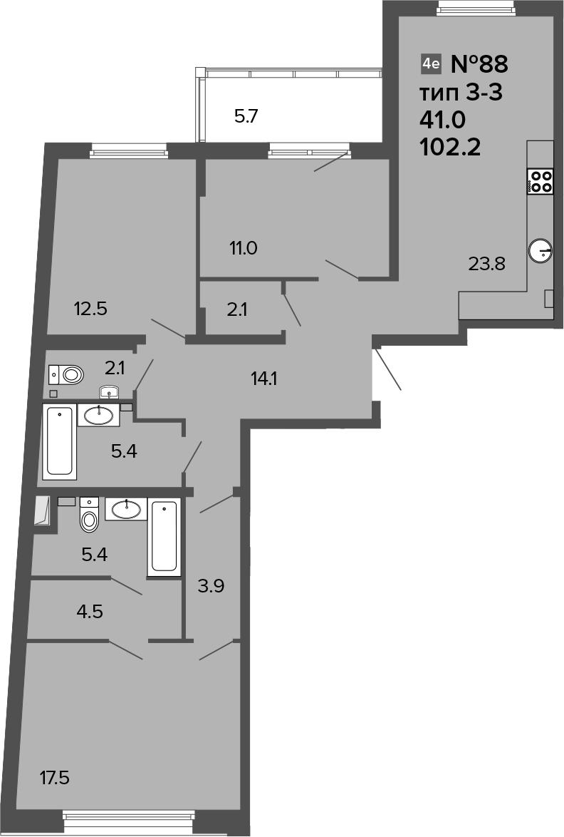 4-к.кв (евро), 107.9 м²