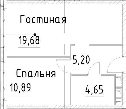 2Е-к.кв, 40.41 м², от 21 этажа