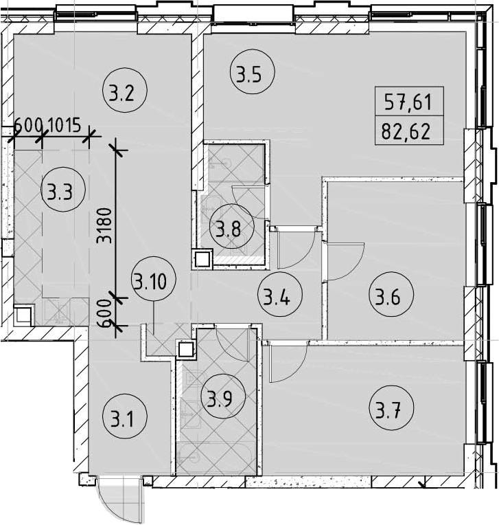 4Е-комнатная, 82.62 м²– 2