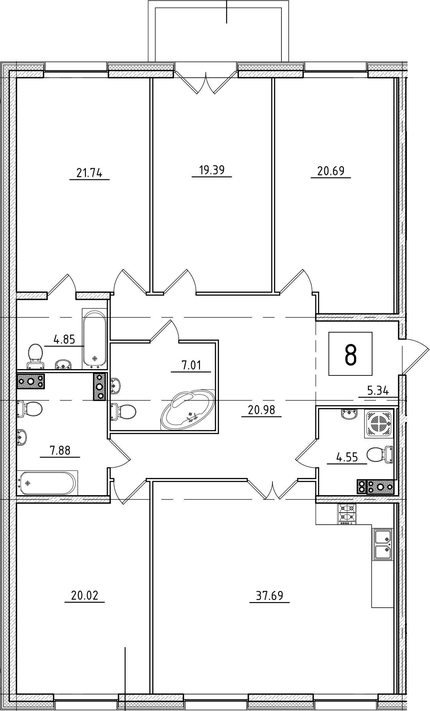 5Е-комнатная, 171.71 м²– 2