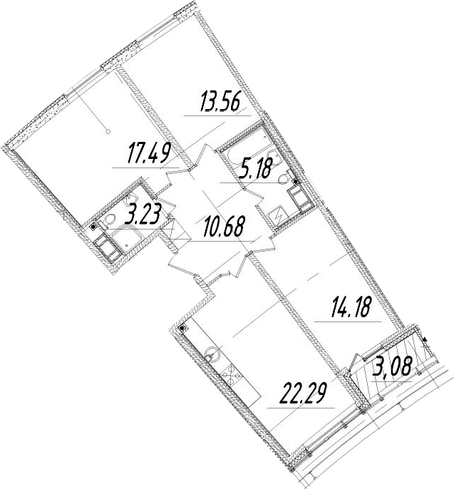 4Е-к.кв, 88.15 м², 13 этаж