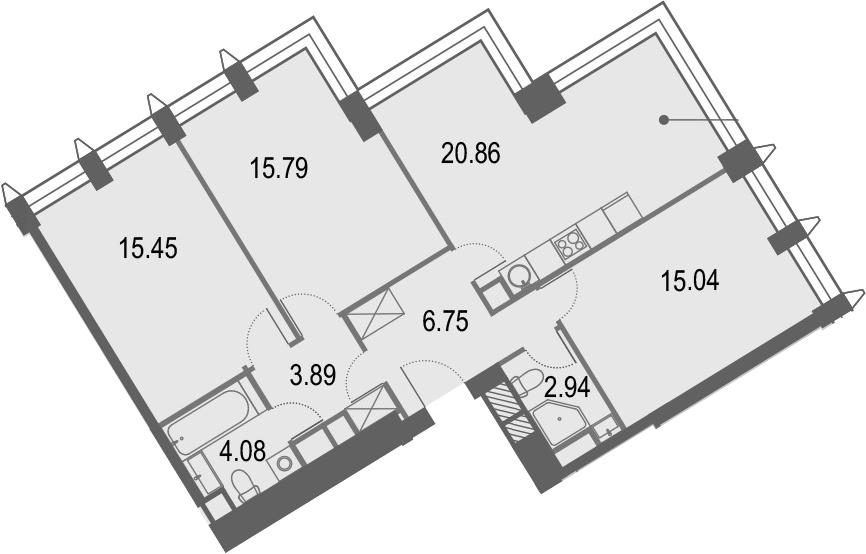 4Е-к.кв, 84.8 м²
