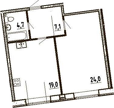 2-к.кв (евро), 54.8 м²