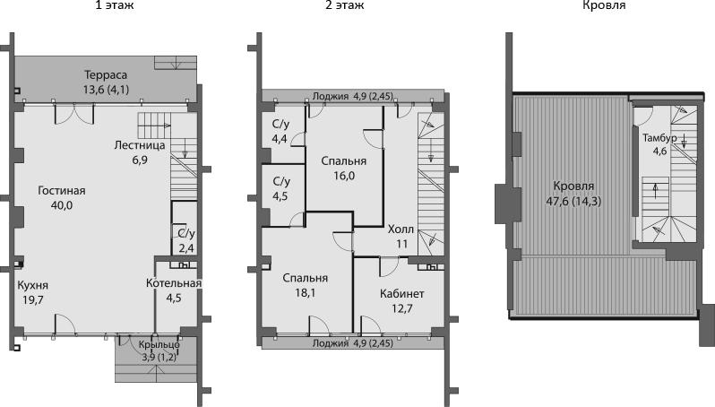 Таунхаусы, 219.84 м²