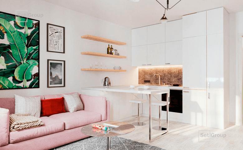 2Е-комнатная квартира, 35.06 м², 4 этаж – 8