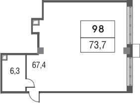 Своб. план., 73.7 м²