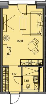 Студия, 30.81 м²