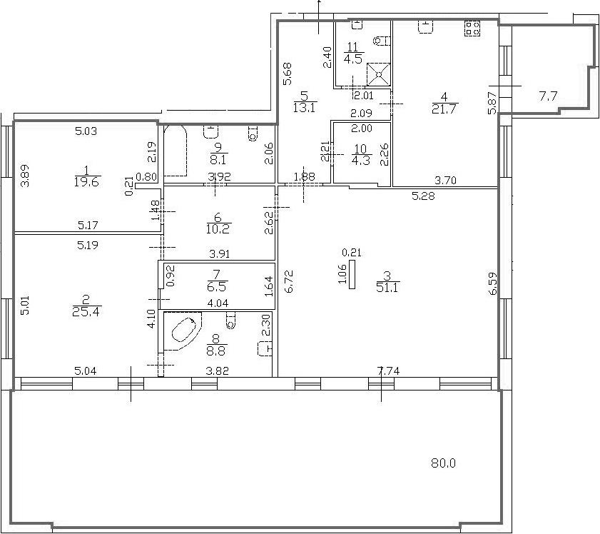 4Е-комнатная, 201.15 м²– 2