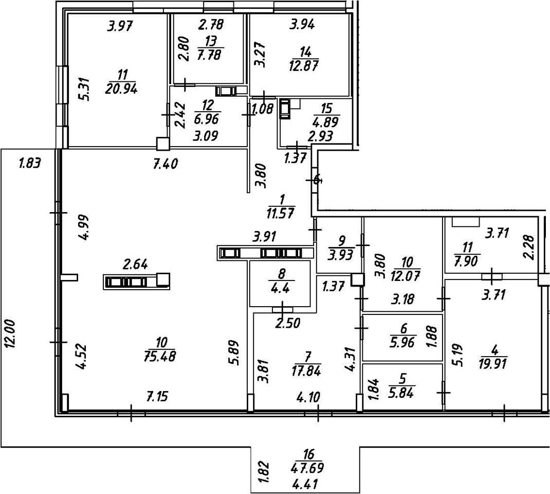 5Е-комнатная, 232.65 м²– 2