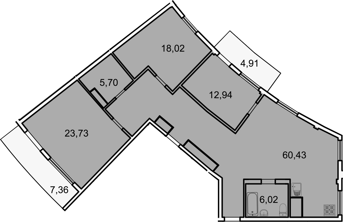 4Е-комнатная, 130.5 м²– 2