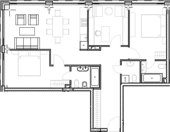 Свободная планировка, 84.67 м²– 2