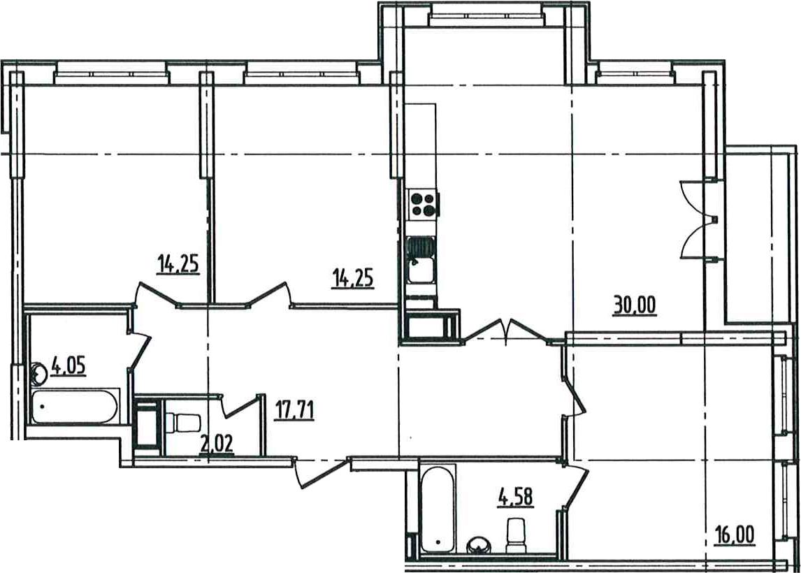 4Е-комнатная, 104.82 м²– 2