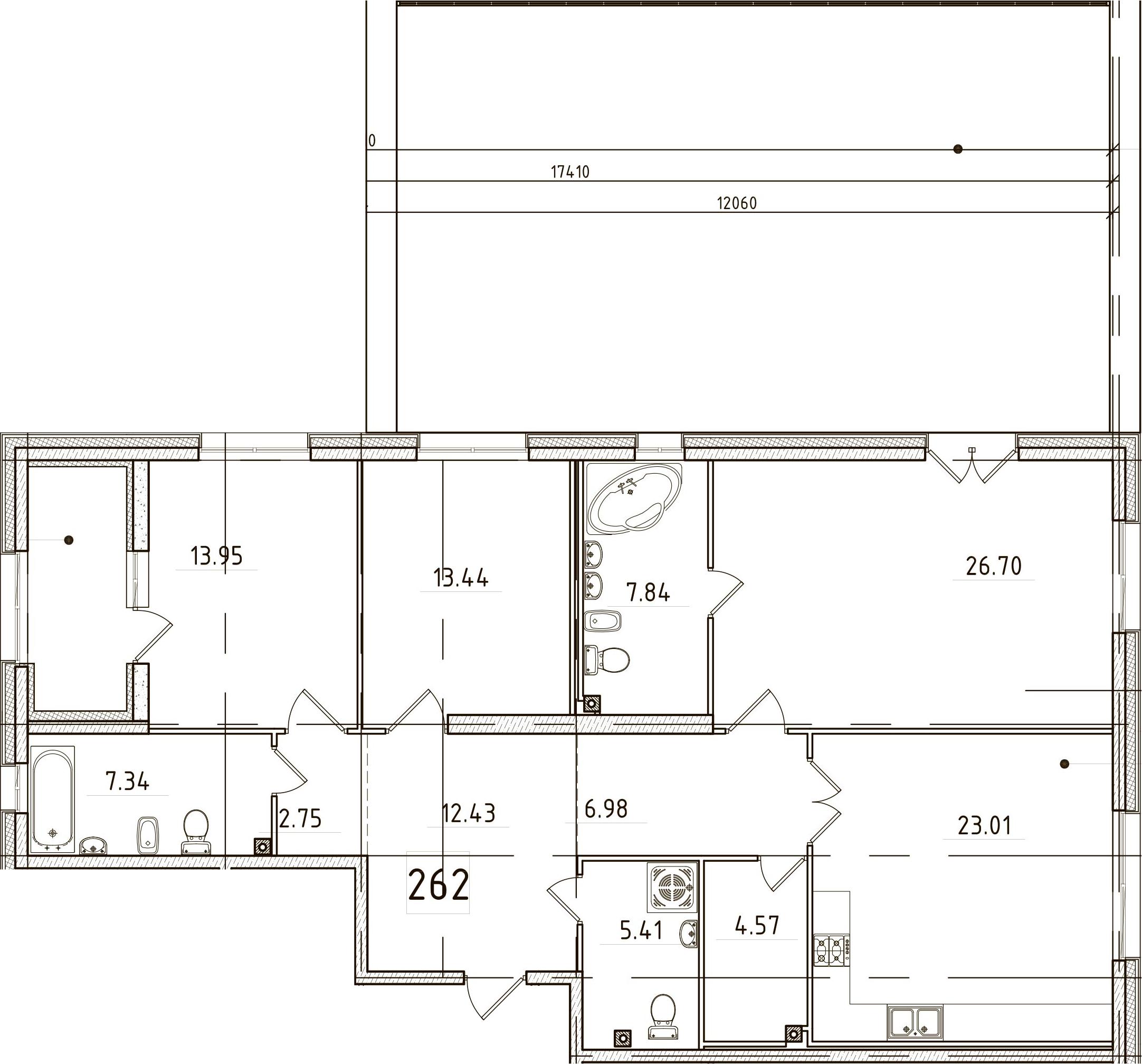 4Е-комнатная, 150.89 м²– 2