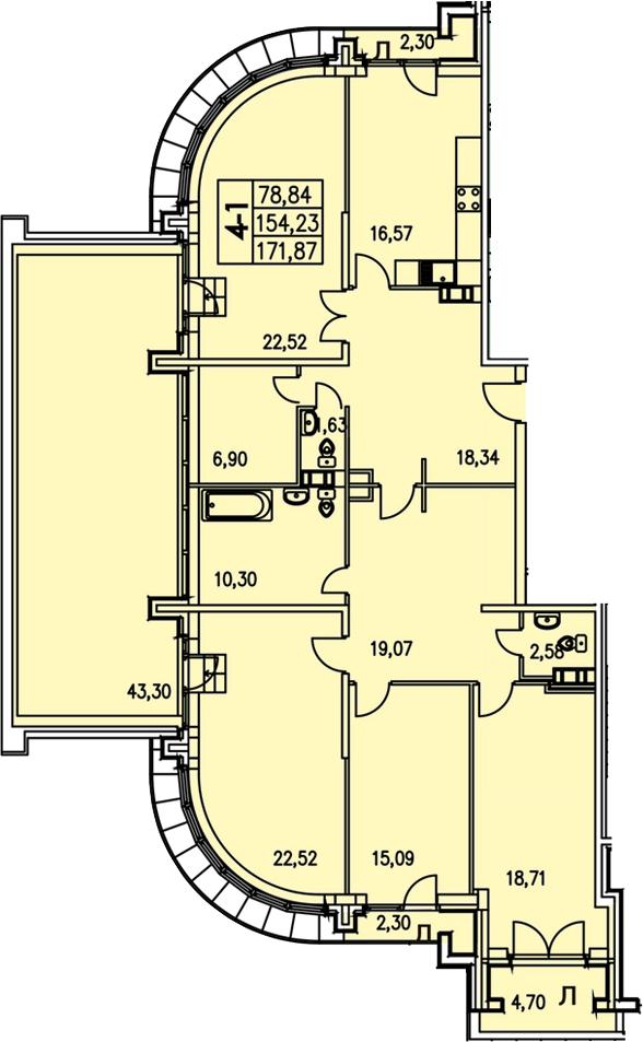 4-к.кв, 204.53 м²