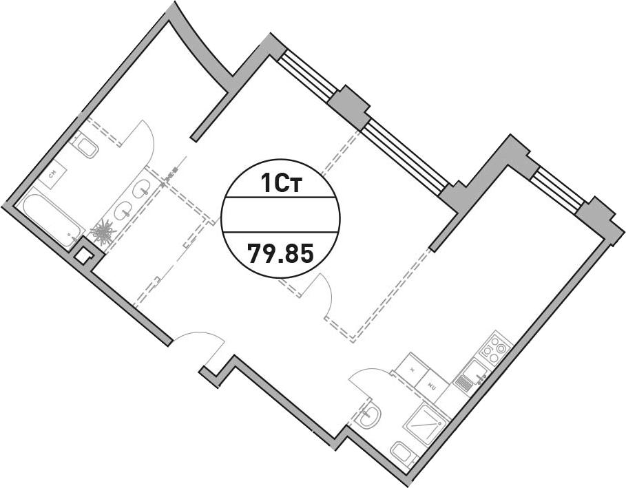Своб. план., 79.85 м²