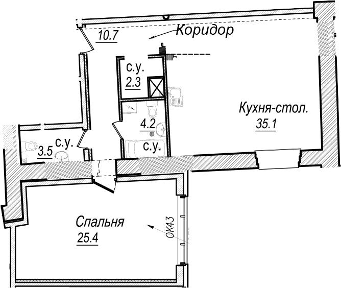 2Е-к.кв, 81.2 м²