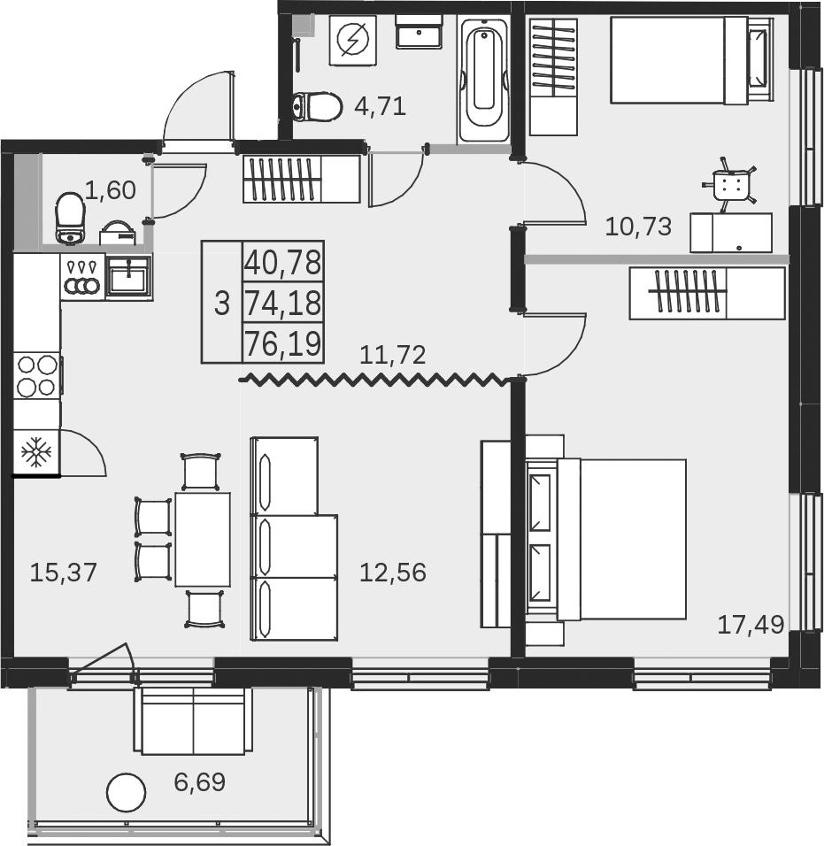 4-к.кв (евро), 80.9 м²