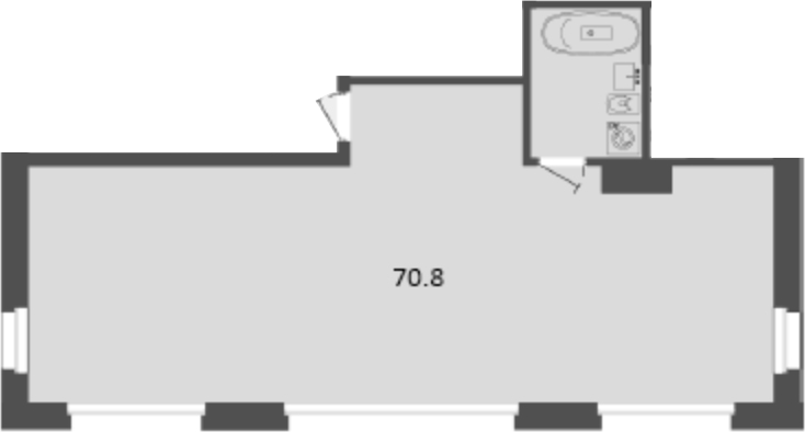 Своб. план., 70.8 м², 2 этаж