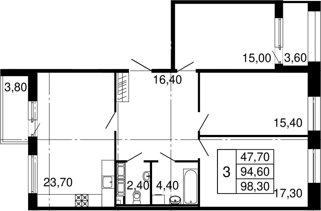 4-к.кв (евро), 98.4 м²