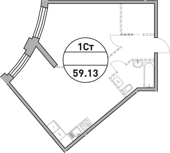 Своб. план., 59.13 м²