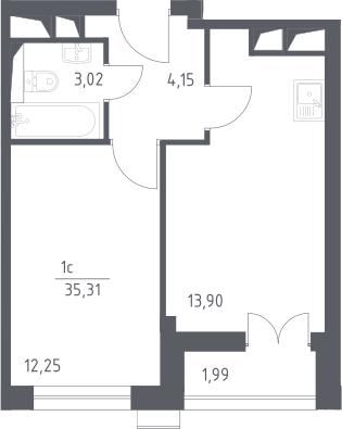 2Е-к.кв, 35.78 м²