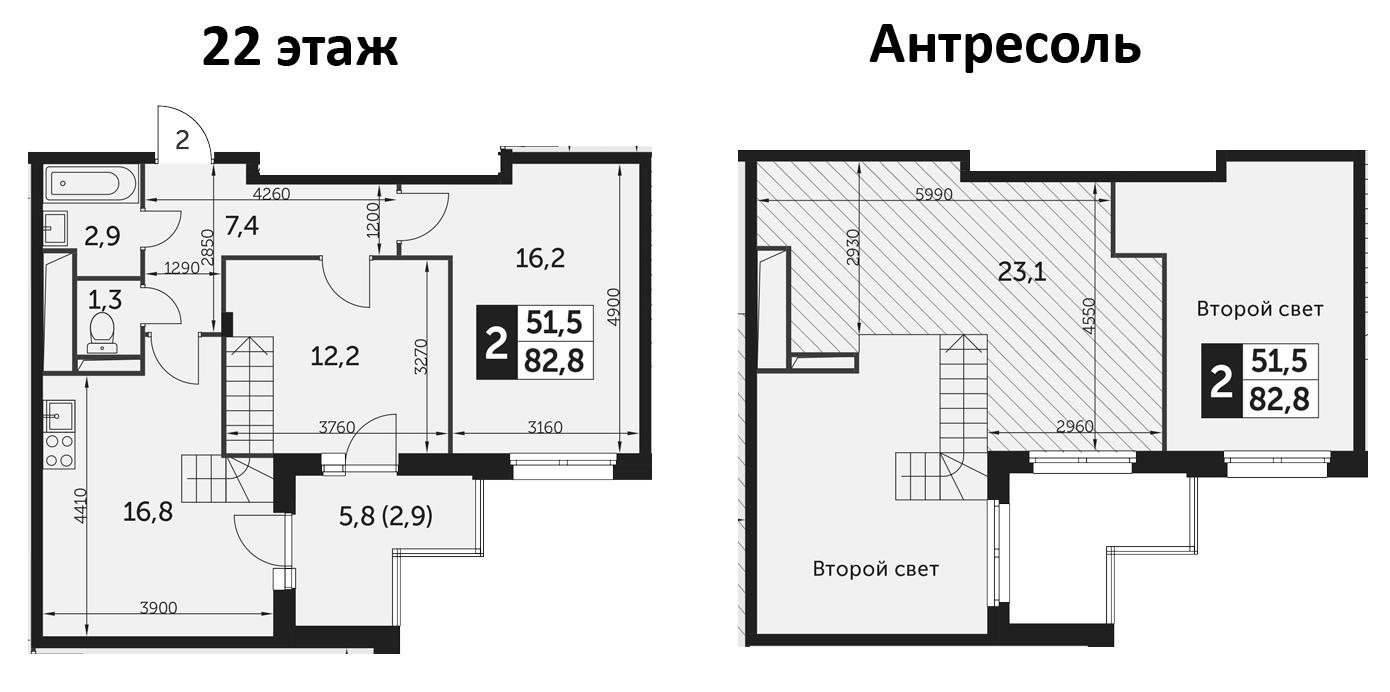 3-к.кв (евро), 85.7 м²