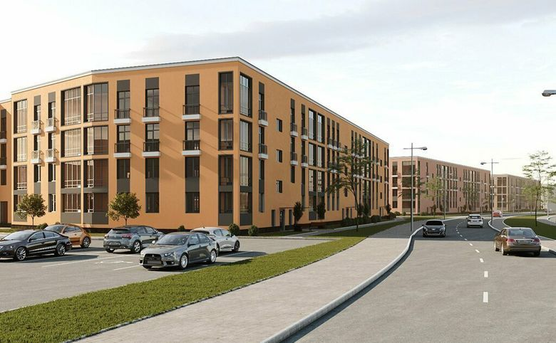 3Е-комнатная квартира, 55.62 м², 2 этаж – 13