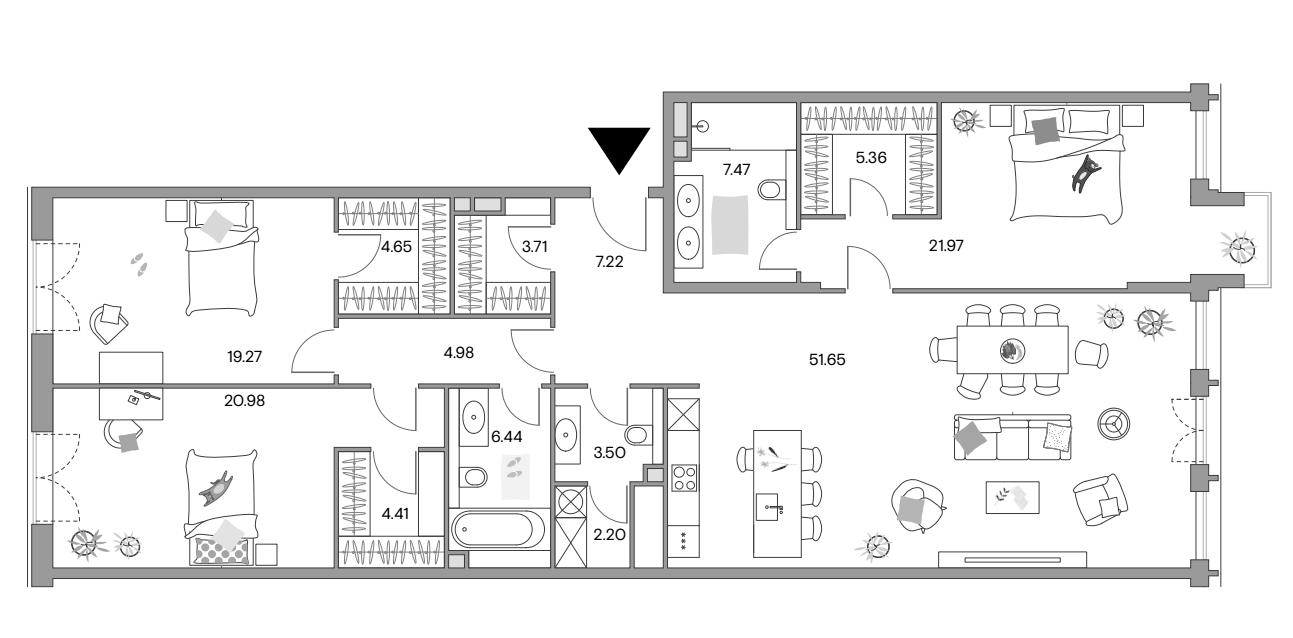 4Е-к.кв, 162.73 м²