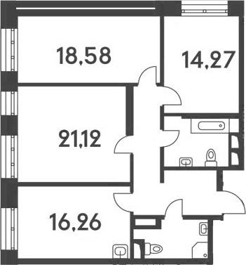 4-к.кв (евро), 93.64 м²
